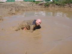 Irvine Lake Mud Run 030 (Mr. Muddy Suitman) Tags: run dirty suit irvine dodgeball irvinelakemudrun