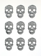 Swirly Skulls (screenprint) (Wayne Chisnall) Tags: skulls screenprint artists prints chisnell deathhead chig skullart waynechisnall buyprints chisnall swirlyskull swirlyskulls
