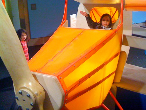 Ella the aviator in the Children's Museum of Pittsburgh