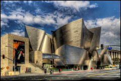 Walt Disney Concert Hall, Los Angeles (szeke) Tags: california city urban usa building art architecture buildings us losangeles unitedstates downtownla hdr waltdisneyconcerthall concerthall noiseware 2011 photomatix nikcolorefex imagenomic nikviveza2