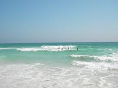 Enjoying the Ocean Waves at the WaterColor Beach