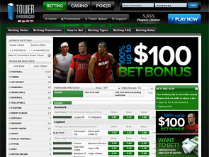 Tower Gaming Sportsbook Home