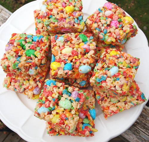 Fruity Spring Cereal Squares, Rice krispy treats with fruity pebbles ...