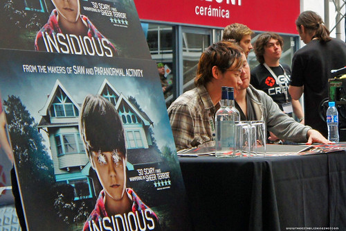 Kapow! Comic Con : IGN Arena Insidious signing with Director James Wan and Writer Leigh Whannell by Craig Grobler