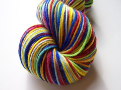 *24hr  Auction* Aj's Rainbow Gaia Worsted Yarn