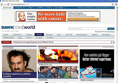 Online edition Dawn newspaper
