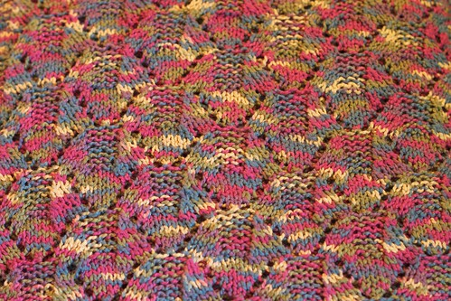 Obstacle Stitch Pattern from baby blanket