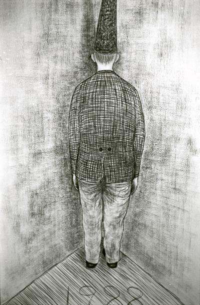 John Barbour-John de Silentio_Gertrude St_dunce in corner detail