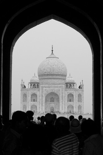 First glimpse of the Taj Mahal