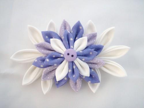 Lilac Kanzashi Flower Barrette