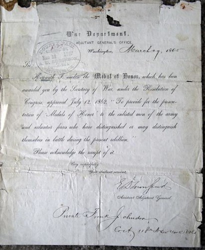 Medal of Honor letter