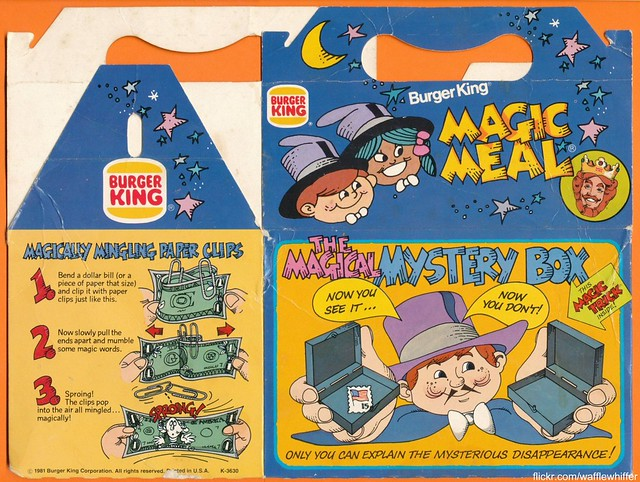 Burger King Meal Box - 1981