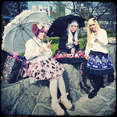 Harajuku Lolita Fashion x3 (tokyofashion) Tags: girls cute girl fashion japan japanese concert lomo dress sweet gothic sid toycamera style lolita parasol harajuku visualkei vk deadstock 2011 angelicpretty squake milkyberry analogcolor
