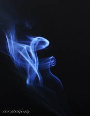 (Dote []  [back!!]) Tags: blue black canon photography smoke