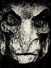 You're Fired! (Kiki FL) Tags: world park sculpture white black france detail monochrome face orlando epcot florida olympus disney theme pavilion duotone wdw walt showcase zuiko e5 zd shortlist