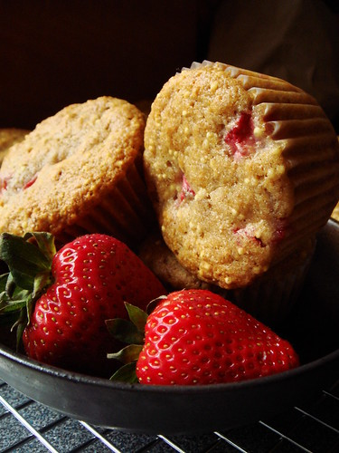 Strawberry Honey Millet Muffin