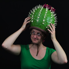 amybrown-7569 (Jumbo Jibbles) Tags: wood costumes cactus green hat photography acrylic felt novelty cap toothpicks arkansas commission papiermache papermache headpiece cactusblossom amybrown modgepodge costumery chrisclanton cactushat detachablecap jumbojibbles
