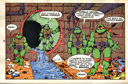 TMNT Adventures Special - Spring 1991 :: Teenage Mutant Ninja Turtles meet Archie // 'STORM DRAIN SAVERS', pg.44 (( 1991 ))