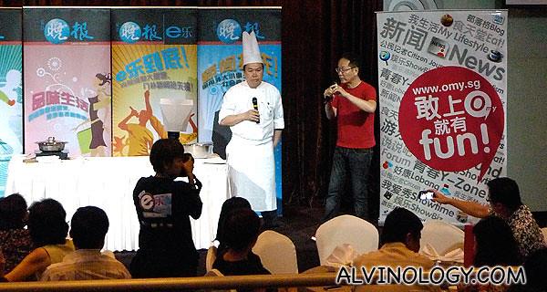 Ah Lun introducing the Mandarin Court head chef