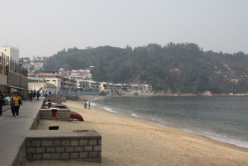 Beach at Cheung Chau in the middle of winter