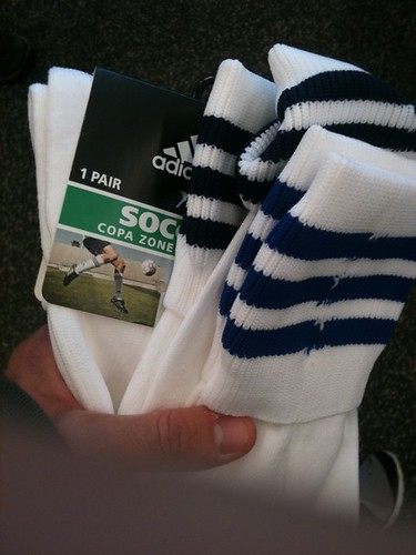 New soccer socks. $10 each.