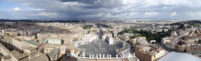 Rome from Copula of St. Peters Basilica