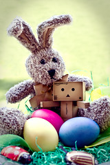 [16/52] Easter-Danbo (nliebherr) Tags: bunny easter amazon eggs canon50mmf18 ostern hase eier danbo 52weeks revoltech canoneos7d danboard 52wochen