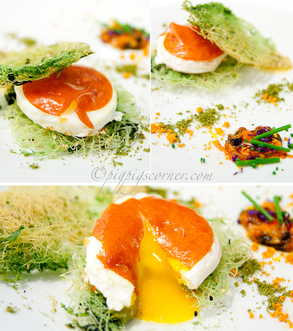 Egg with mussels, Arzak, San Sebastian