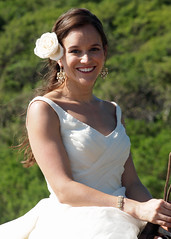 Flower (Out of the Blue Photography) Tags: blue wedding beach del trash out photography bride san dress juan romance sur nicaragua cowgirl horseback rancho chilamate