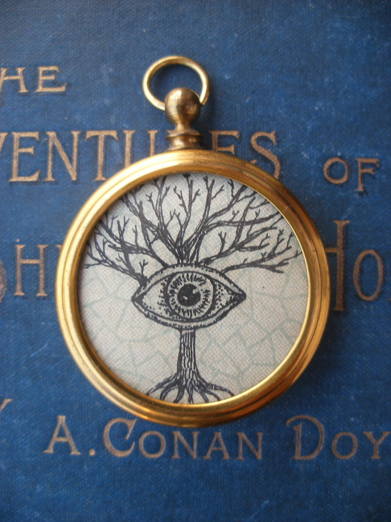 "Fob pendant- ""Can't see the wood for the trees"""