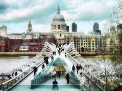 The Millenium bridge .   London