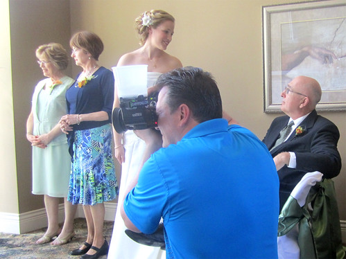 Taking some photos after the ceremony