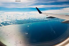Fernando de Noronha do alto (S6xtoandar) Tags: sky azul plane airplane mar bonito céu nuvens avião alto noronha