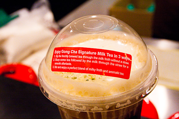 Ways to drink Gong Cha Signature Milk Tea