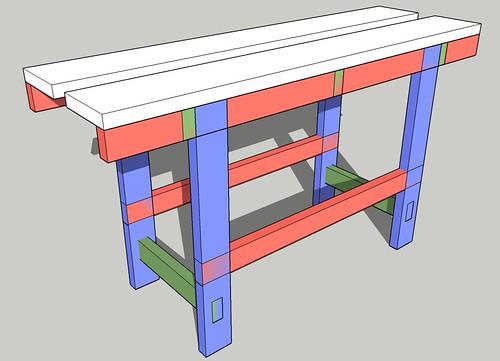 Long bench � initial sketch