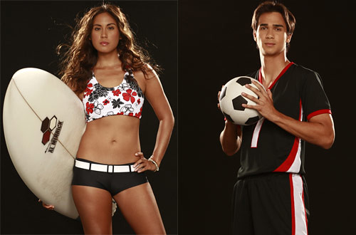 Kenny Rogers new brand ambassadors pro-surfer Lorraine Lapus and James Younghusband of the Azkals - CertifiedFoodies.com