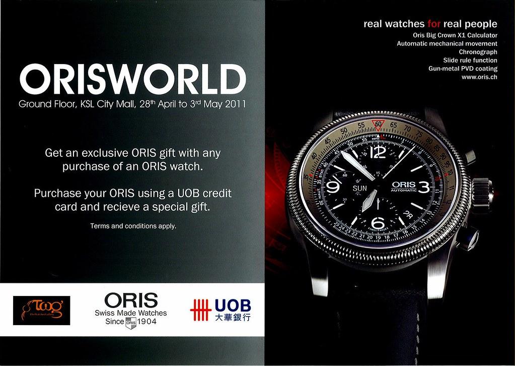 Oris Watch Promotion Roadshow