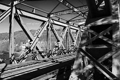 made of steel (peter pirker) Tags: bridge train canon austria sterreich steel eisenbahn rail zug krnten carinthia brcke stahl fachwerk spittal peterfoto eos550d
