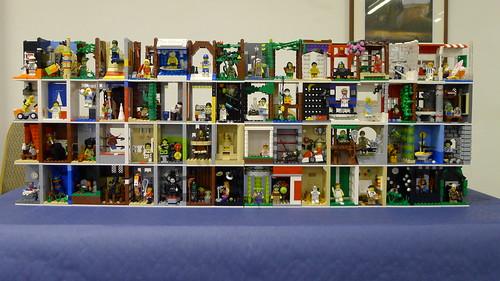 Custom minifig Collectible minifig shelf - 4 series