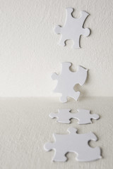 Jigsaw Puzzle (Alex Bramwell) Tags: white inspiration idea thought puzzle thinking highkey jigsaw conceptual piece metaphor answer
