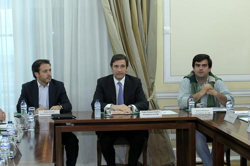 Pedro Passos Coelho com dirigentes das Associações Académicas do Ensino-IMG_8815