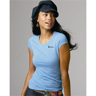 Promotional Items-Bella - Ladies Marcelle Sheer Jersey Longer Length T-Shirt (Colored)  16849