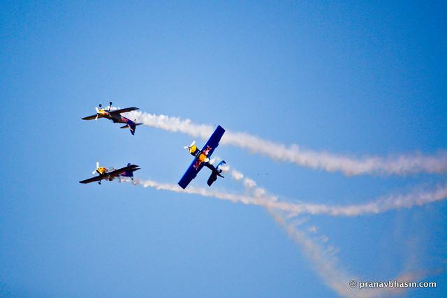 Acrobatics Of The Red Bull Team
