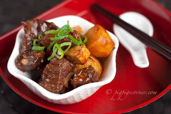 Szechuan-Style Pork Ribs with Potatoes & Bean Curd
