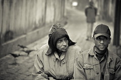 Three (A. adnan) Tags: street portrait bw man men monochrome sepia three nikon dof bokeh expression numbers crows bangladesh f28 chittagong bangladeshiphotographer d5000 peopleofbangladesh aadnan613 gettyimagesbangladeshq2 raojan