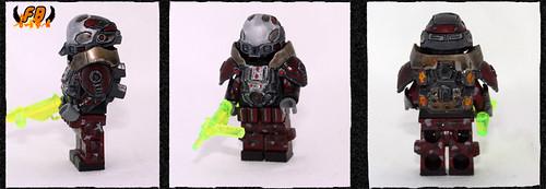 Custom minifig Future Warrior - USMD Commander