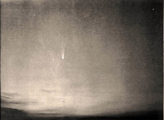 Best Comet / Worst Photo, Comet West March 5 1976 (Sea Moon) Tags: sky polaroid dawn twilight head tail trails brilliant nucleus 3000speed greatcomet