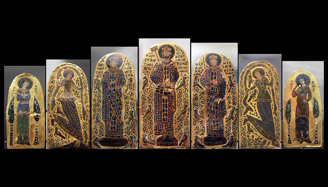 Monomachos crown - represents the emperor Constantine IX Monomachos( 1042-56), his empress Zoe, her sister Teodra