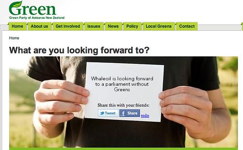 Greens social media disaster
