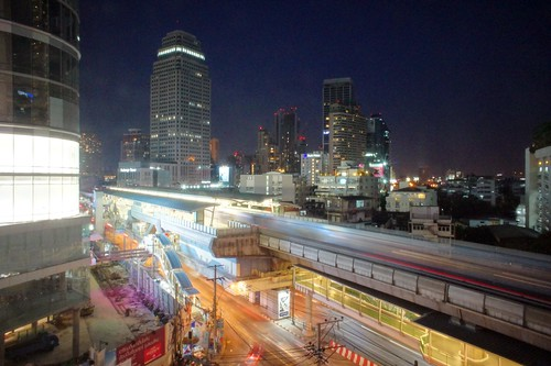 Bangkok Skyline Long Exposure on Sukhumvit